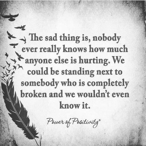 the sad thing is...